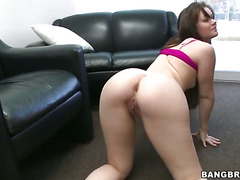 Brunette Porn Diva Angel Cakes With Round Booty Does Dirty Things And Then Gets Jizzed On